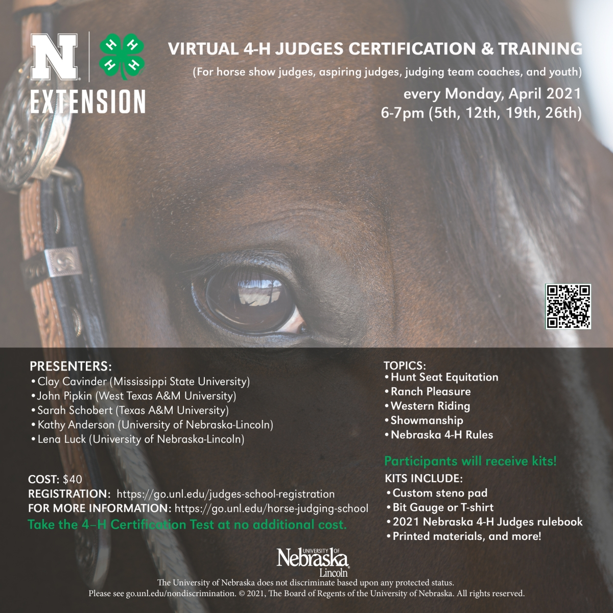 2021 Virtual 4-H Judges Certification & Training Flyer