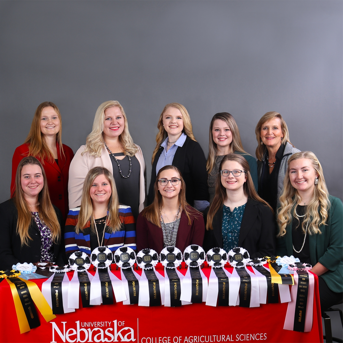 Group picture of 2020 Horse Judging Team