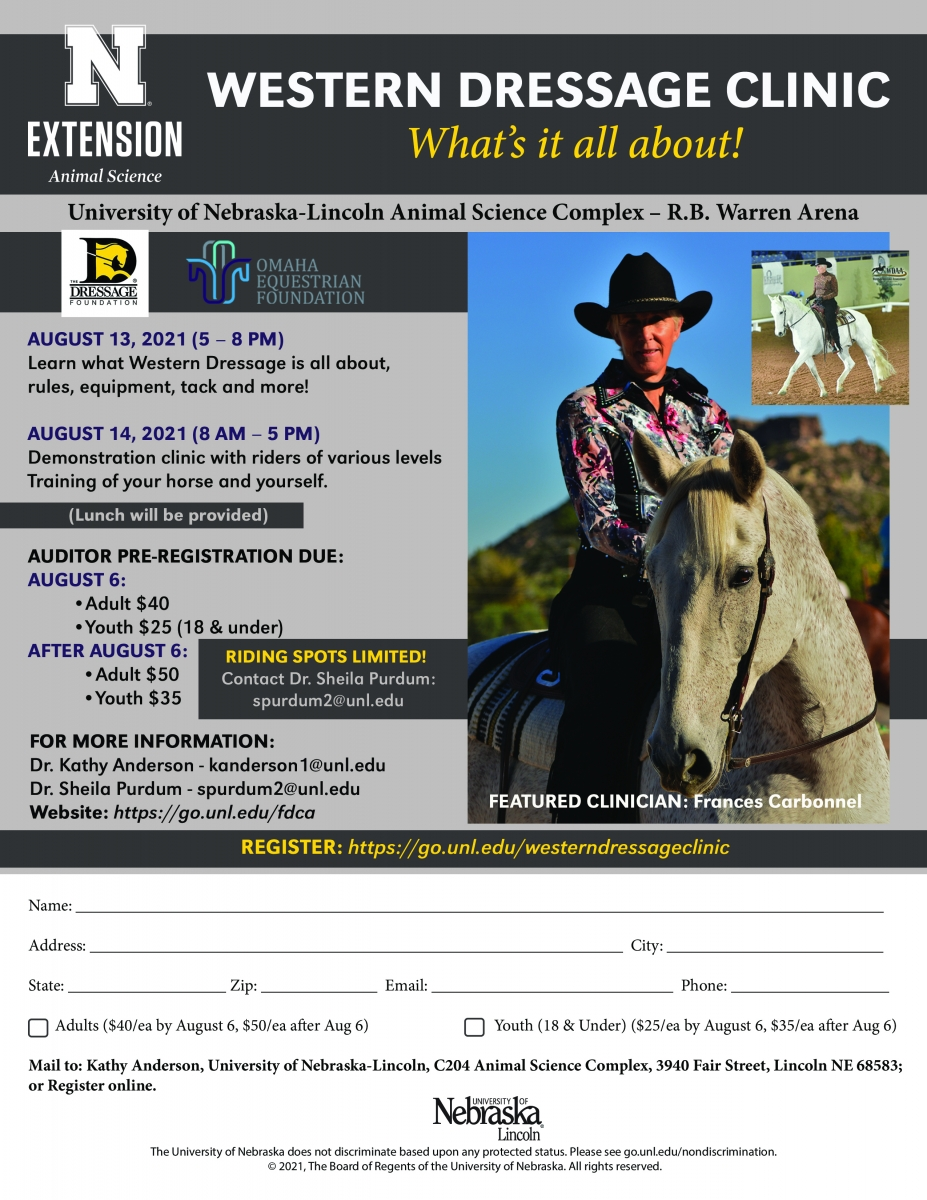 Western Dressage Clinic Flyer