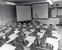 Photo Rearview of classroom