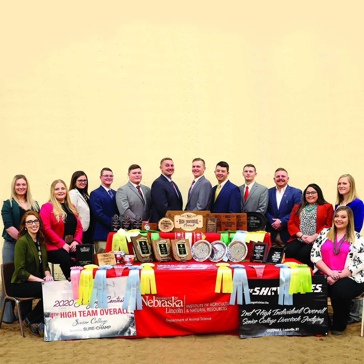 Group picture of 2020 Livestock Judging Team