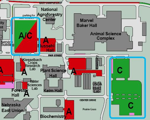 Unl Parking Map Event Parking | Animal Science