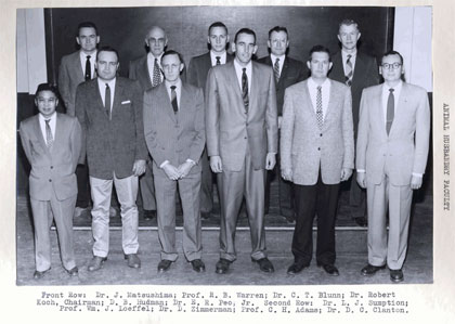 1959-1960 Animal Science Faculty Group Picture