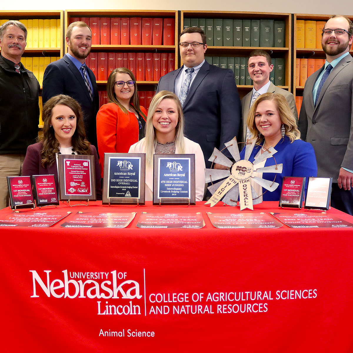 Group picture of 2018 Livestock Judging Team