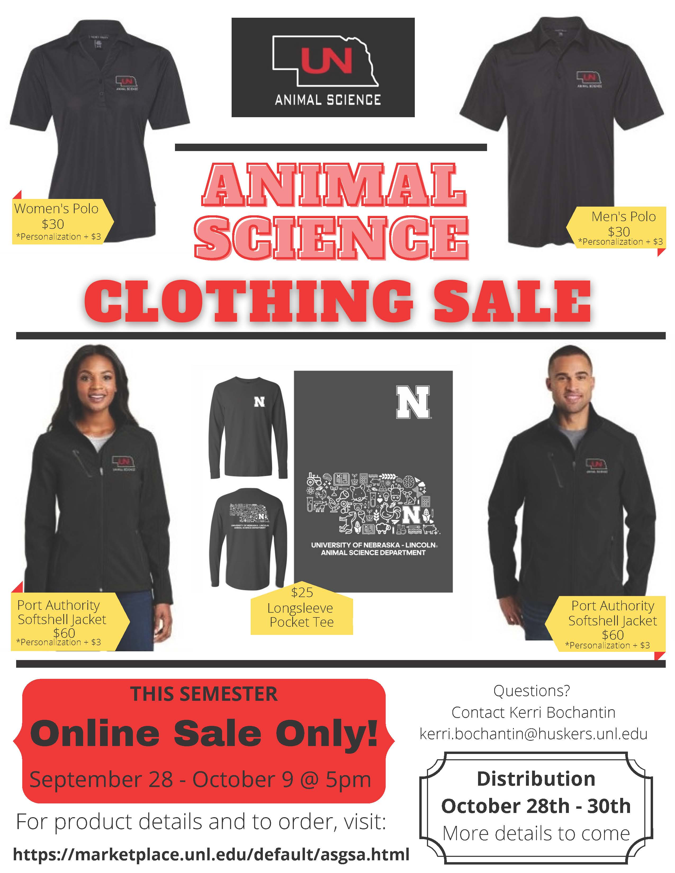Flyer showing clothing options