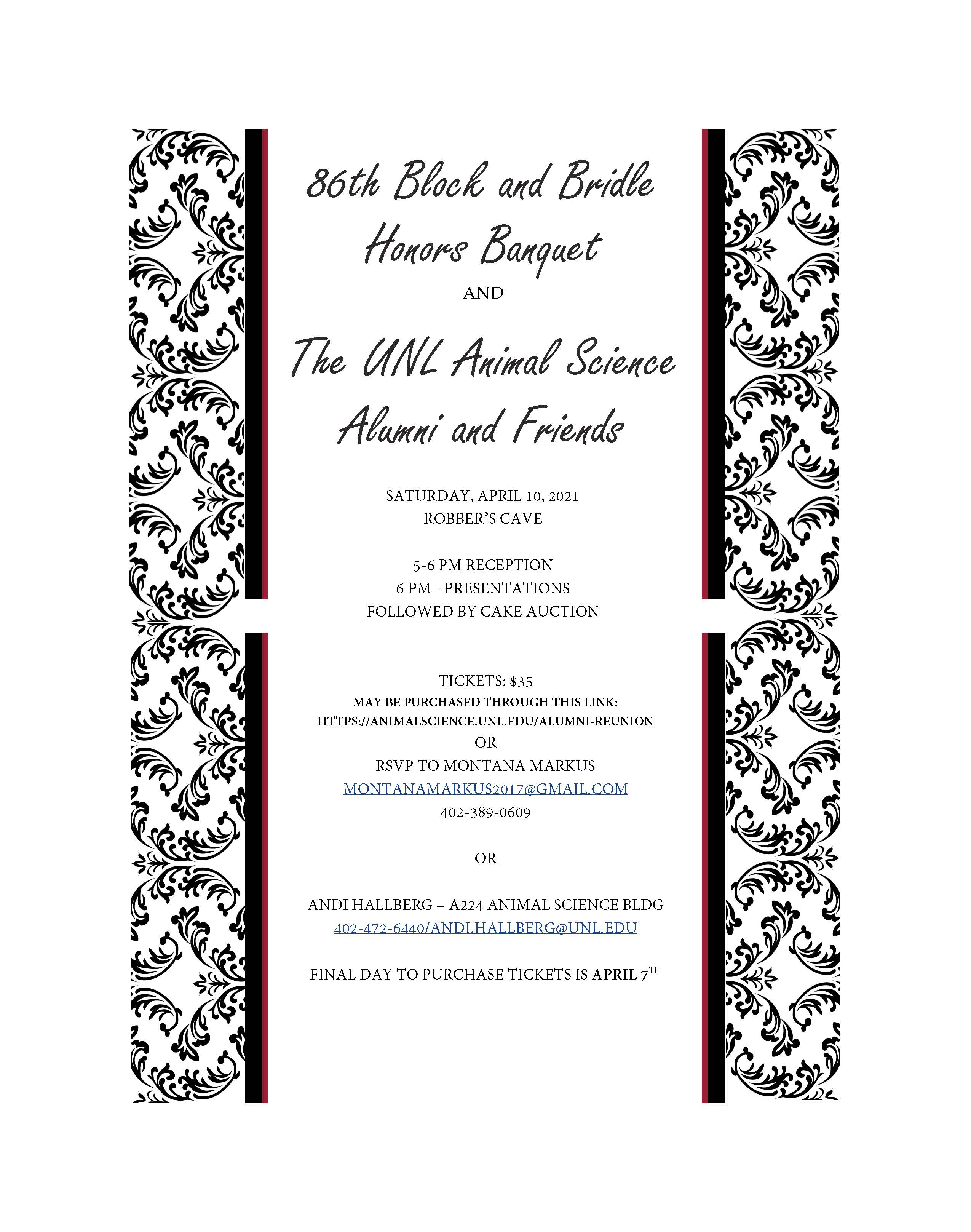 Block and Bridle newsletter invite