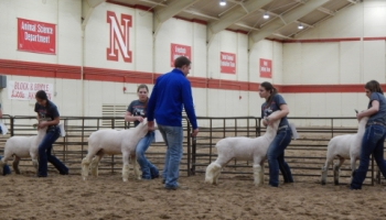 Students with Goats