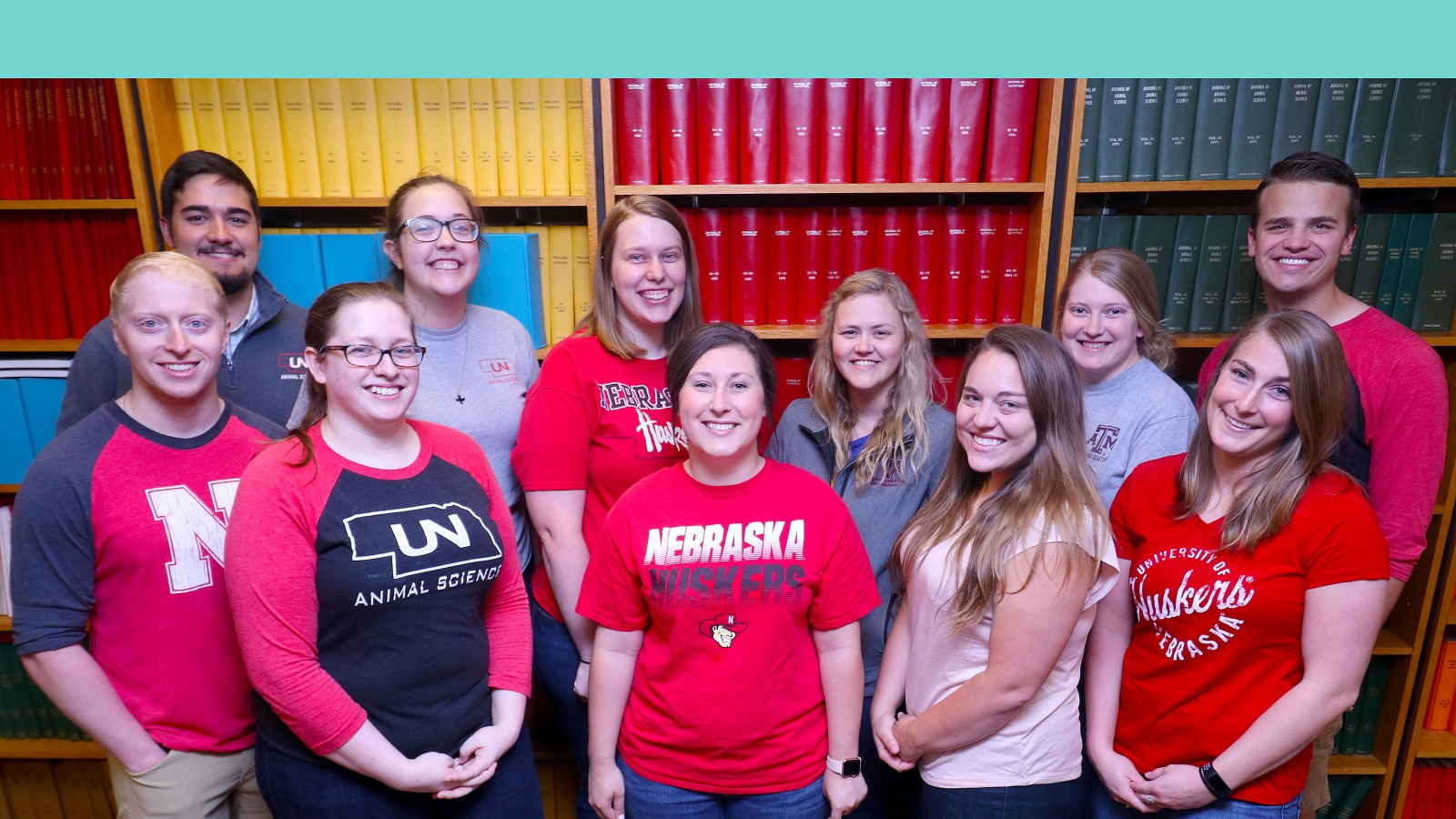 Animal Science Graduate Student Association members pose for a picture