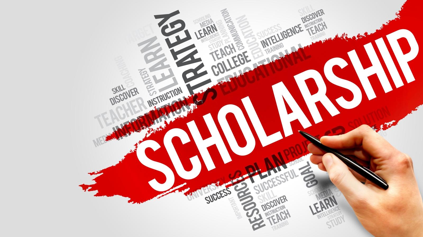 Word graphic banner-scholarship